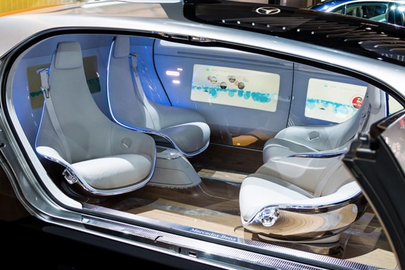 Mercedes-Benz driverless car. Image by: GmanViz CC 2.0